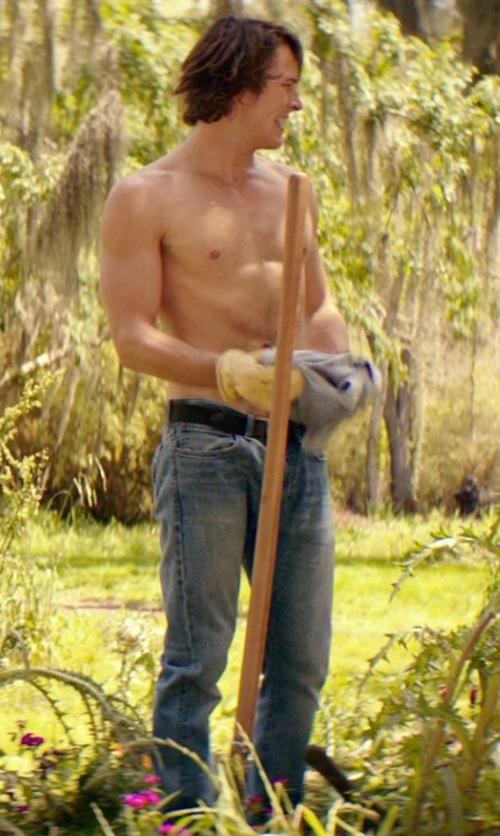 Luke Bracey with Nudie Jeans 'Grim Tim' Slim Fit Jeans in The Best of Me