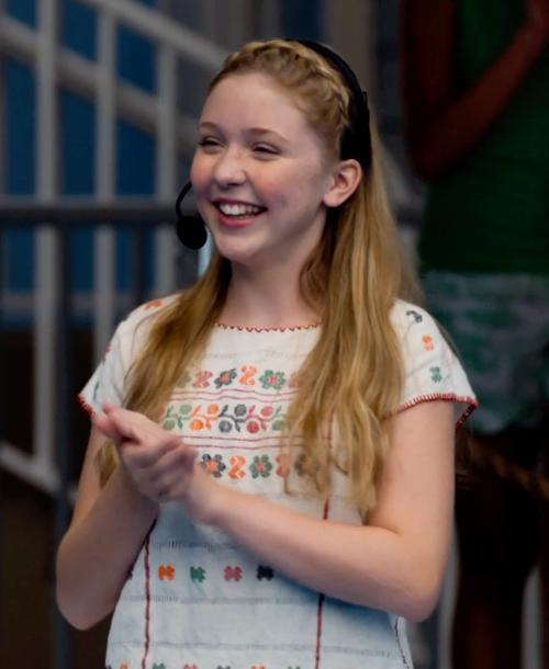 Cozi Zuehlsdorff with Wet Seal Lattice Strap Shoulder Floral Tee in Dolphin Tale 2