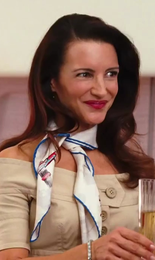 Kristin Davis with Gianfranco Ferre Off The Shoulder Suit in Sex and the City 2