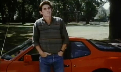 Michael Schoeffling with Porsche 1983 944 Coupe in Sixteen Candles