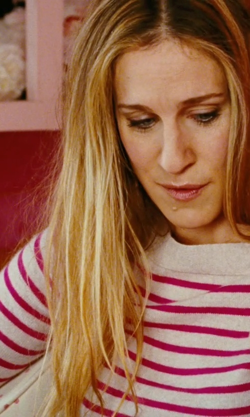 Sarah Jessica Parker with DemyLee Red Stripe Sweater in Sex and the City