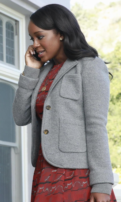 Aja Naomi King with Ottod'ame Single Breasted Blazer in How To Get Away With Murder