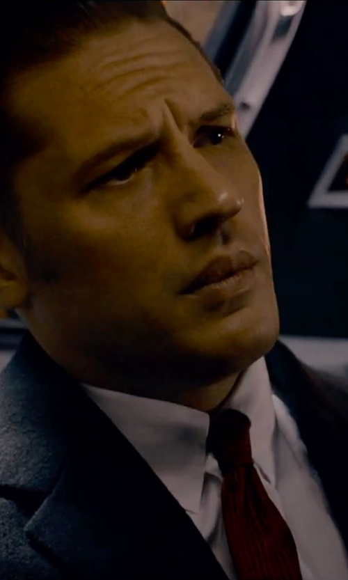 Tom Hardy with Rusty Zipper Skinny Rockabilly Necktie in Legend