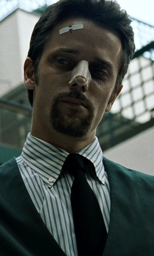Chad Randau with The Kooples Woven Silk Tie in Fight Club