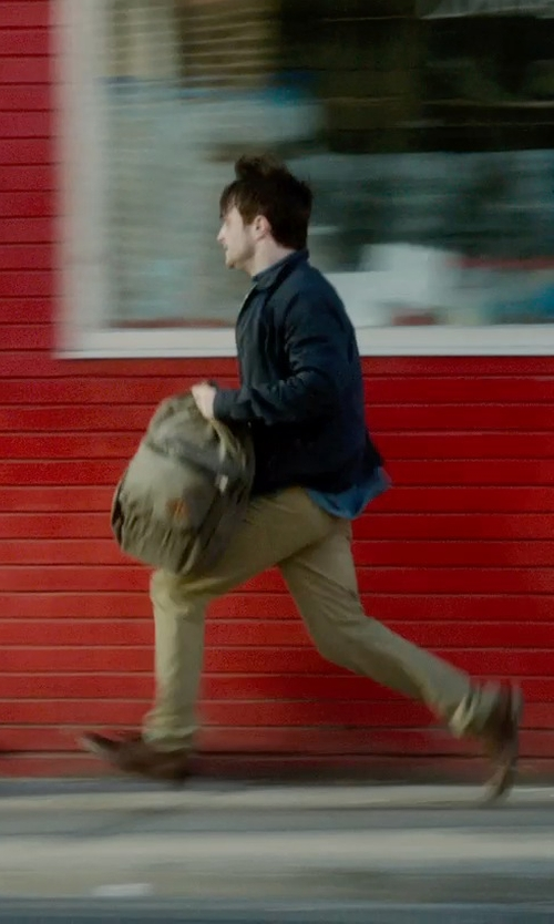 Daniel Radcliffe with Apolis Civilian Chino Pants in What If