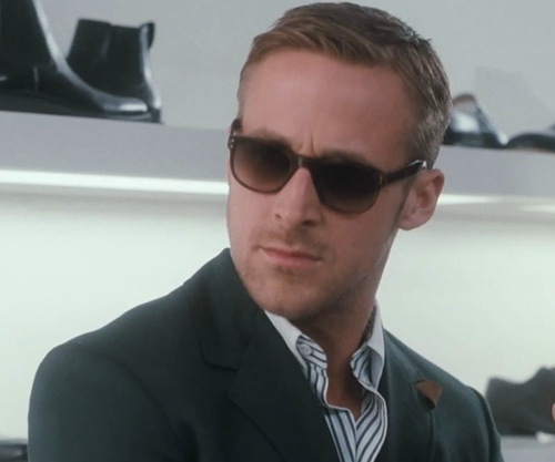 Ryan Gosling with Selima Optique Classic Chad Sunglasses in Crazy, Stupid, Love.