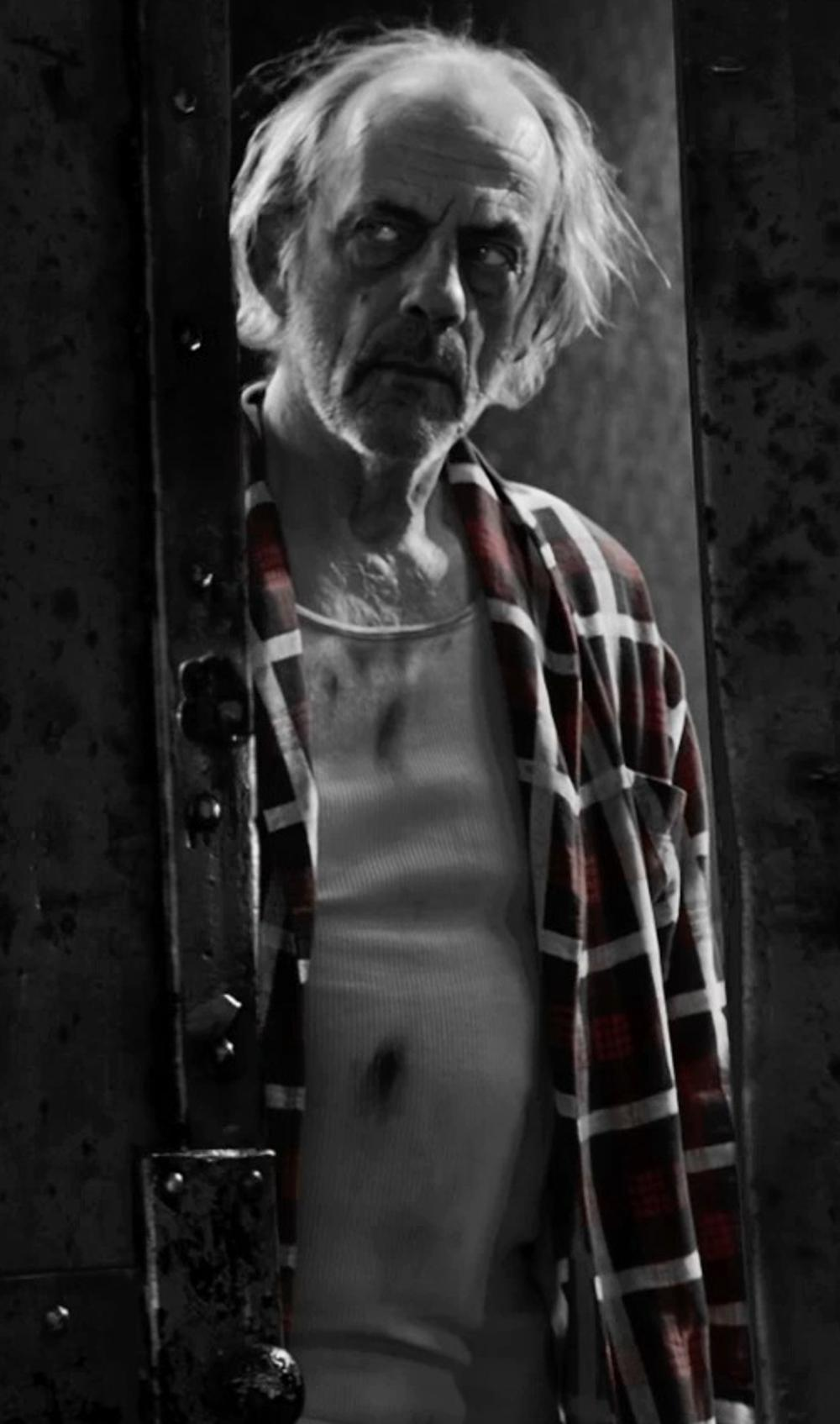 Christopher Lloyd with ATM Anthony Thomas Melillo Destroyed Wash Slub Jersey Tank Top in Frank Miller's Sin City: A Dame To Kill For
