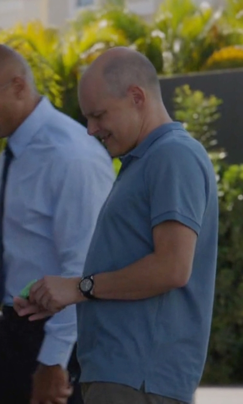 Rob Corddry with Fortis Chronograph Leather Date Watch in Ballers