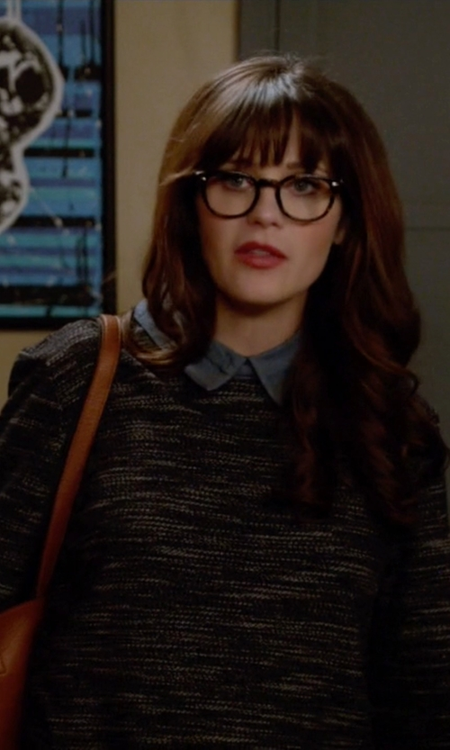 Zooey Deschanel with Elizabeth And James Buckley Chambray Shirt in New Girl