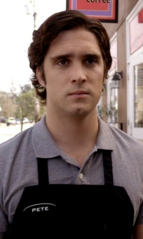 Diego Boneta with Michael Kors Woven Gingham Trim Polo Shirt in Scream Queens