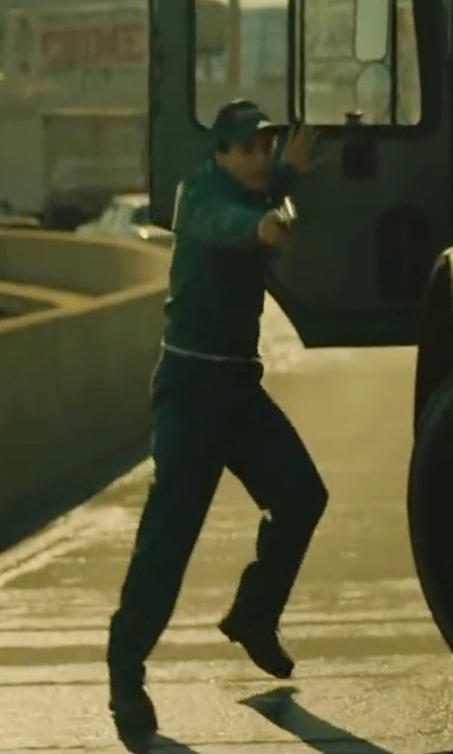 Elyes Gabel with Rocky Men's Work Boots in A Most Violent Year