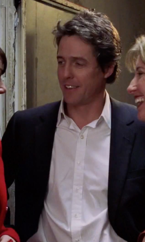 Hugh Grant with Band of Outsiders Solid Poplin Dress Shirt in Love Actually