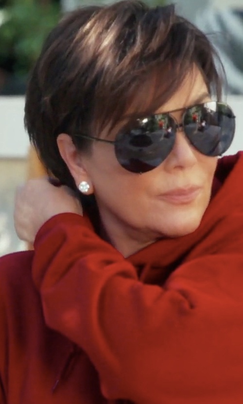 Kris Jenner with Saint Laurent Classic Aviator Metal Sunglasses in Keeping Up With The Kardashians