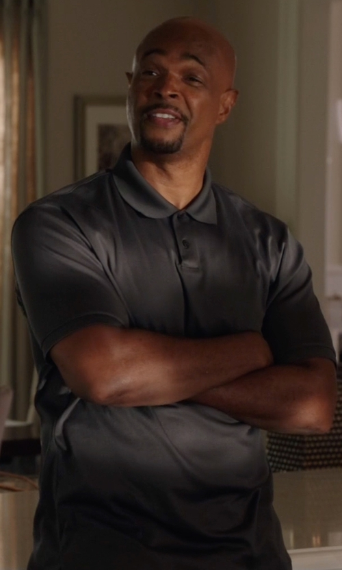 Damon Wayans with Dan Ward Short-Sleeved Polo Shirt in Lethal Weapon