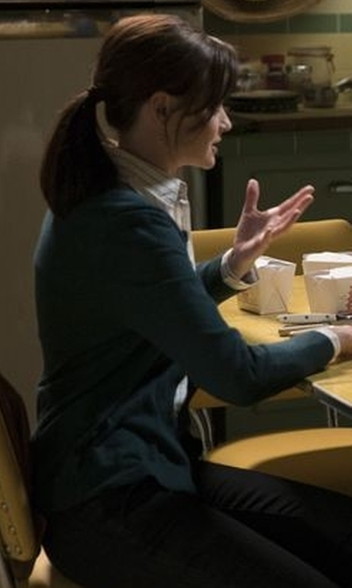 Alexis Bledel with The Row Jair V-Neck Button-Front Cardigan in Gilmore Girls: A Year in the Life