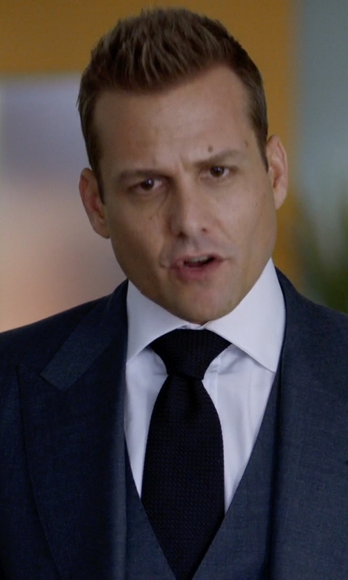 Gabriel Macht with Canali White Slub Cotton Spread Collar Dress Shirt in Suits