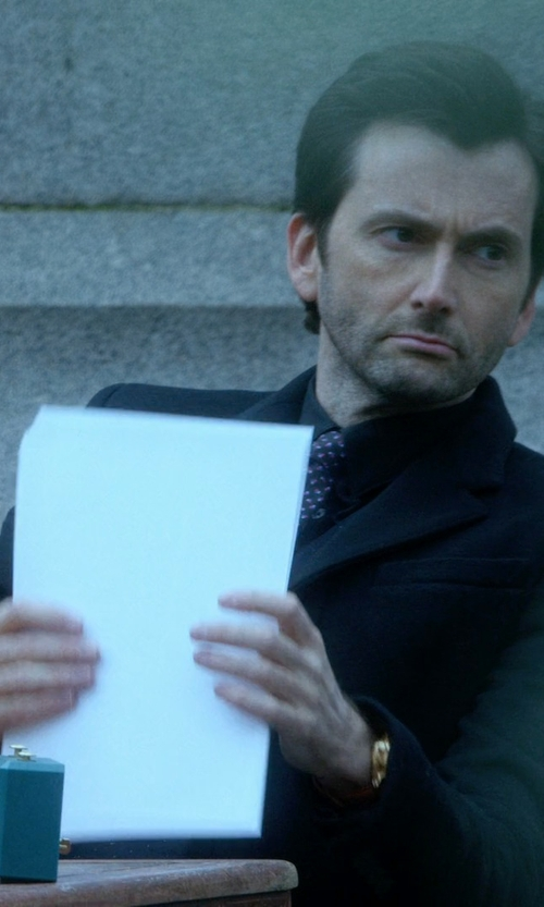 David Tennant with Tiger Of Sweden Black Nedvin Suit in Jessica Jones