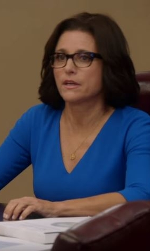 Julia Louis-Dreyfus with Victoria Beckham Faille Sheath Dress in Veep