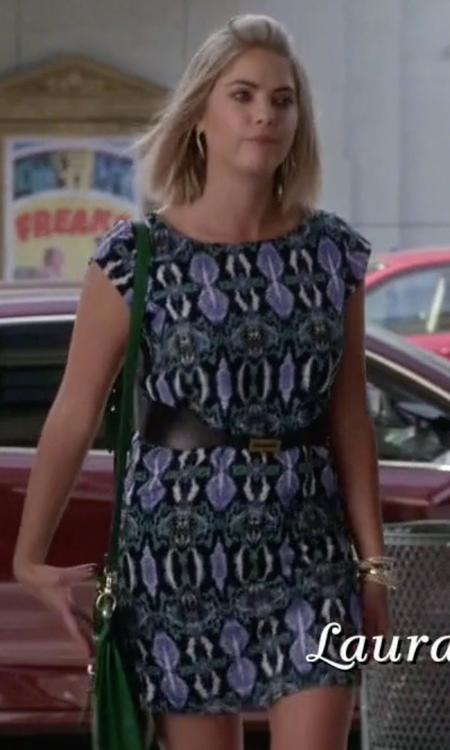 Ashley Benson with Sam Edelman Illusion Panel Shift Dress in Pretty Little Liars