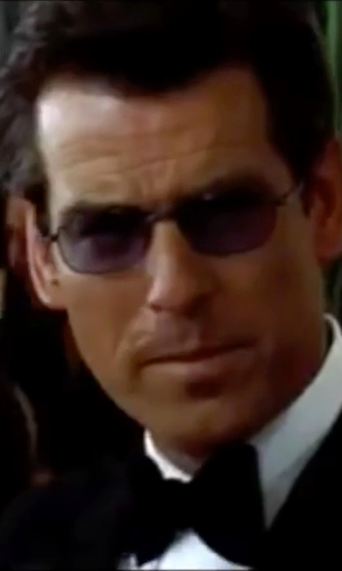 Pierce Brosnan with Oakley Tincan Carbon Rectangular Sunglasses in The World is Not Enough