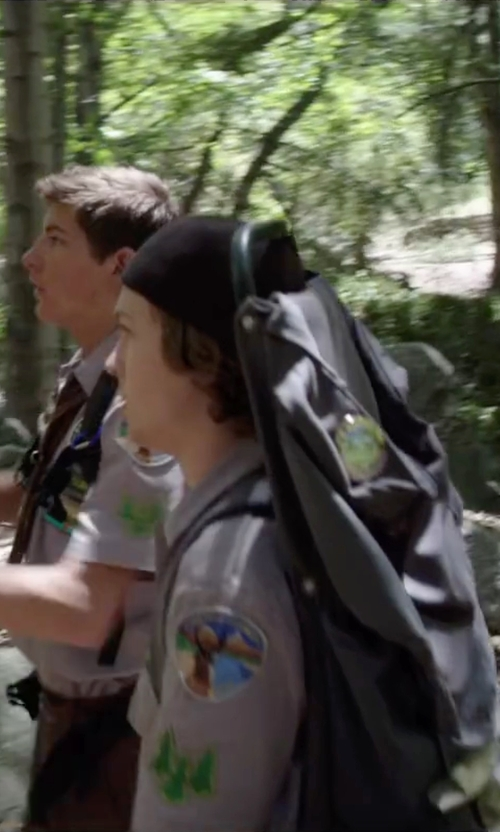 Logan Miller with Jansport Scout External Frame Backpack in Scout's Guide to the Zombie Apocalypse