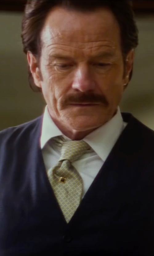 Bryan Cranston with River Island Five Button Vest in The Infiltrator