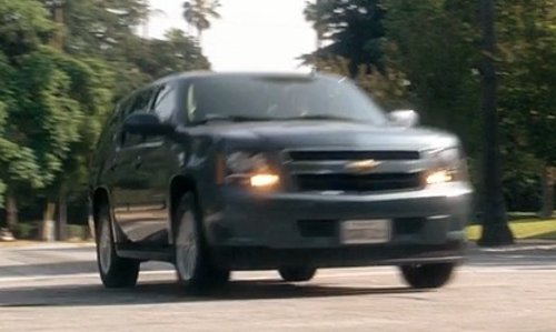 John Carroll Lynch with Chevrolet Tahoe SUV in Crazy, Stupid, Love.
