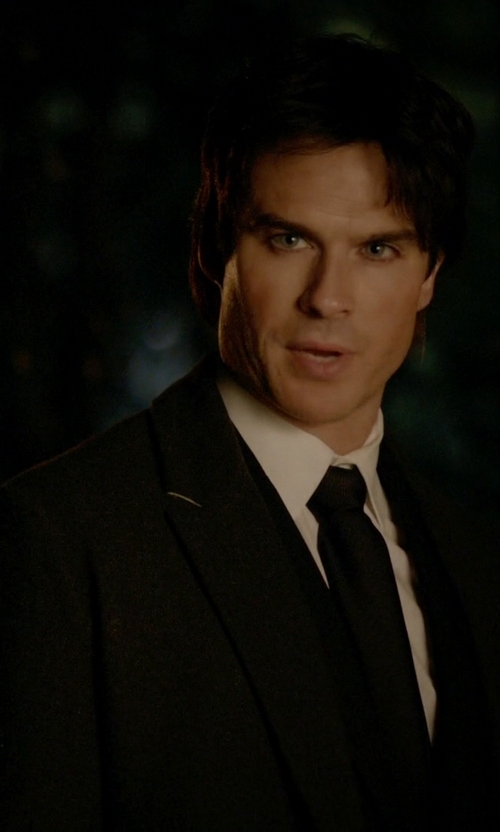 Ian Somerhalder with Boss Hugo Boss Two-Piece Suit in The Vampire Diaries