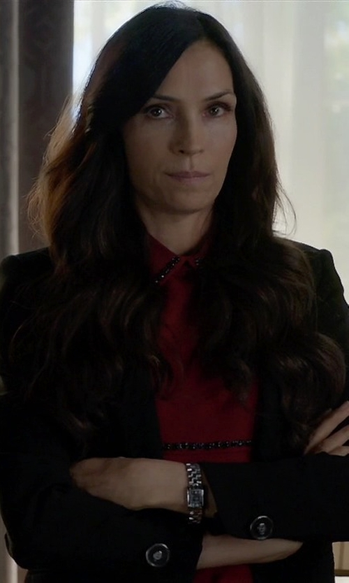Famke Janssen with Anthony Vaccarello Shawl Lapel Blazer in How To Get Away With Murder