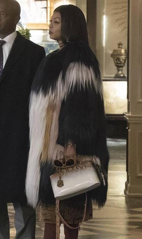 Taraji P. Henson with Tularosa X Revolve Averly Faux Fur Coat in Empire