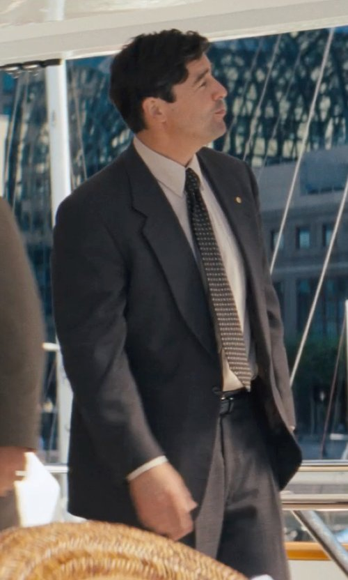 Kyle Chandler with Neiman Marcus Solid Wool Suit, Modern fit,Charcoal in The Wolf of Wall Street