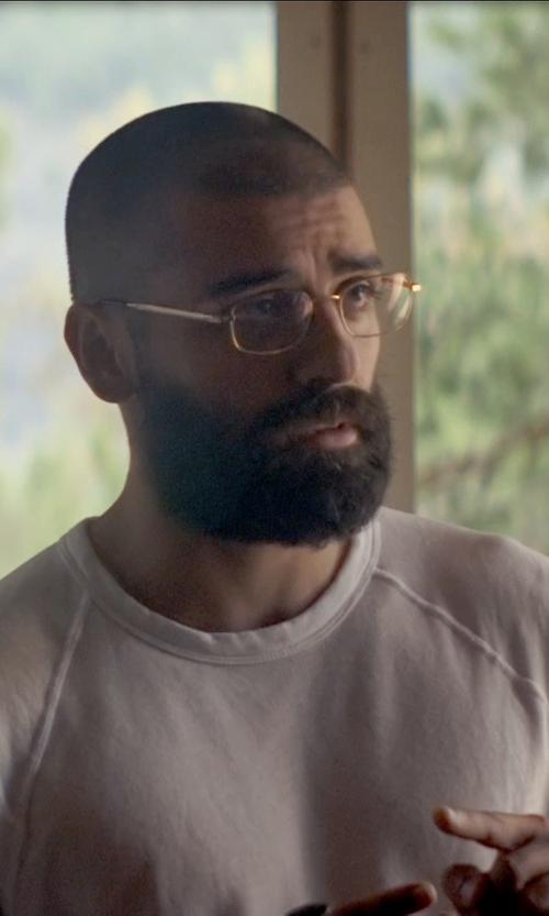 Oscar Isaac with Rag & Bone Long Sleeve Raglan Tee Shirt in Ex Machina
