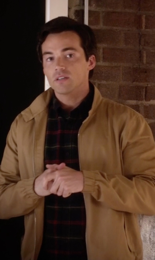 Ian Harding with Porsche Design Sport By Adidas Hi-Reflective Jacket in Pretty Little Liars