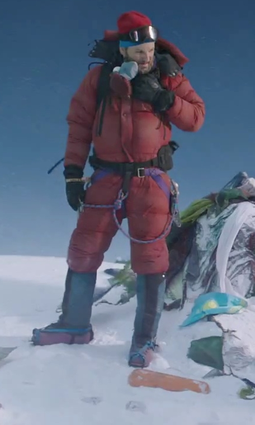 Jason Clarke with Mountain Hardwear Absolute Zero Suit - Men's in Everest