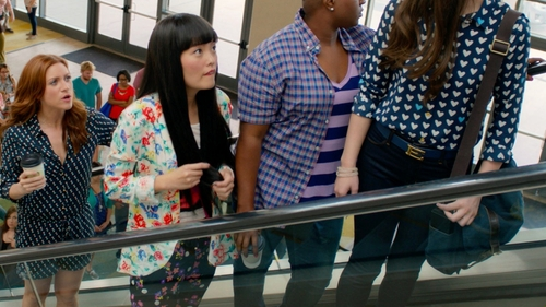 Hana Mae Lee with Mink Pink Flower Crush Blazer in Pitch Perfect 2