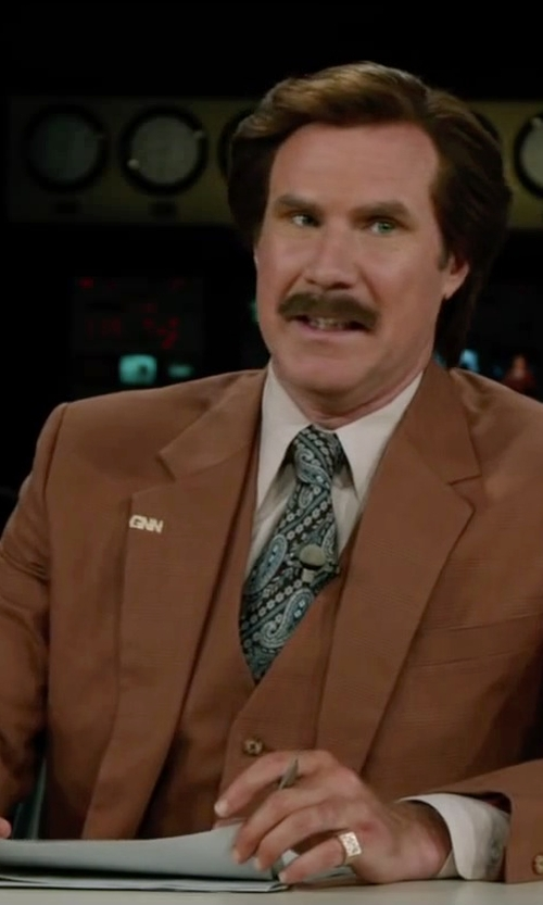 Will Ferrell with R.H. Macy & Co. Fine Jewelry Men's 14k Gold Ring, Diamond in Anchorman 2: The Legend Continues