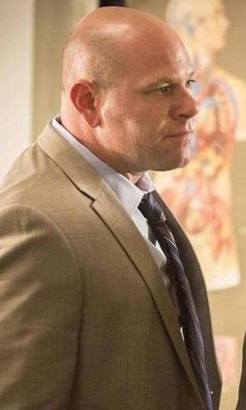 Domenick Lombardozzi with Michael Michael Kors Vitality Stripe Tie in Rosewood