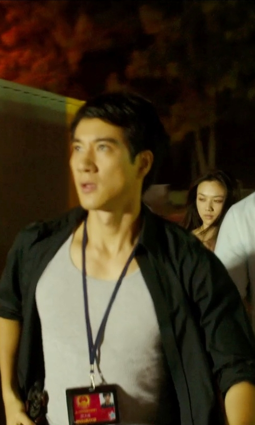 Leehom Wang with Alfani Men's Underwear Rib Tank Top in Blackhat