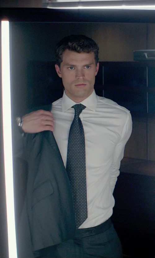 Jamie Dornan with Anto Beverly Hills Custom Made Solid Dress Shirt in Fifty Shades of Grey