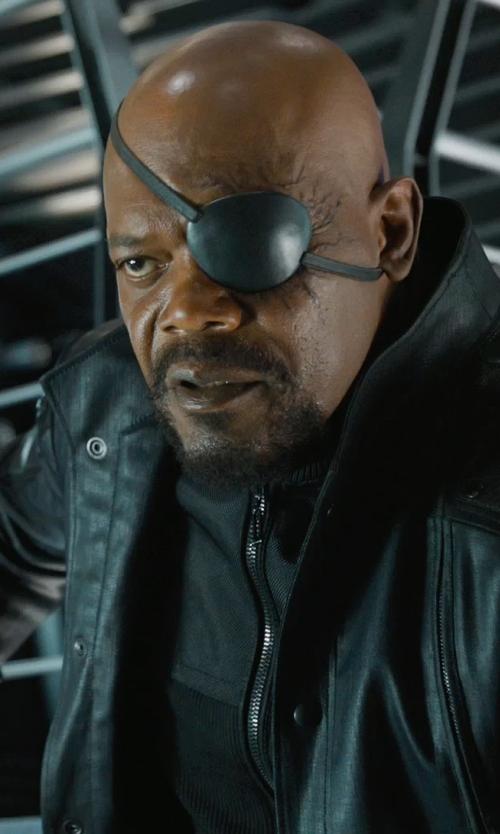 Samuel L. Jackson with Alexandra Byrne (Costume Designer) Custom Made 'Nick Fury' Zip Jacket in Marvel's The Avengers
