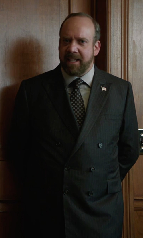 Paul Giamatti with Hugo Boss Nando/Bill Italian Virgin Wool Suit in Billions