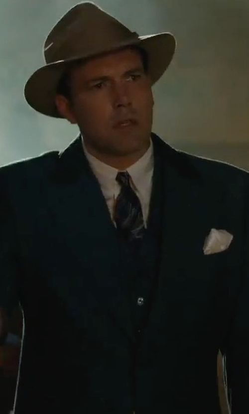 Ben Affleck with Alexander McQueen Barbed Wire Print Silk Tie in Live By Night