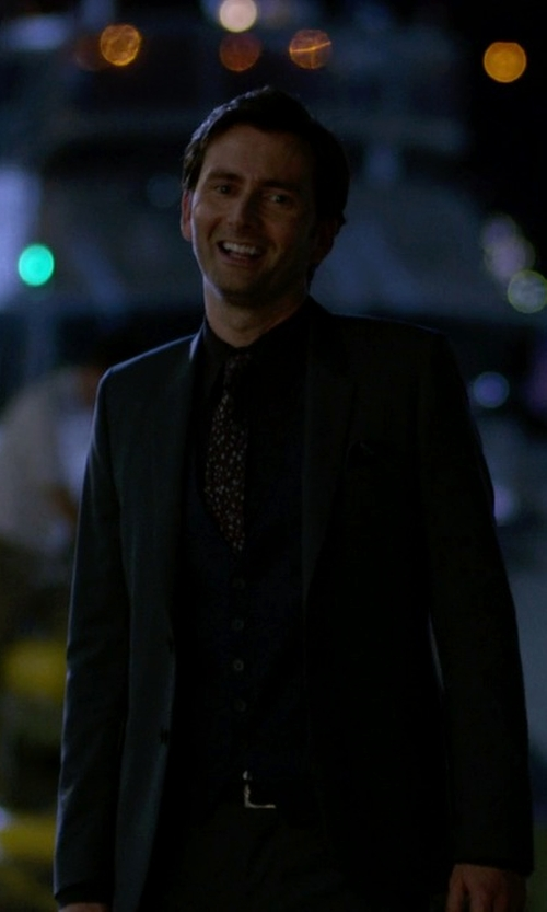 David Tennant with Boss Hugo Boss Three Piece Suit in Jessica Jones