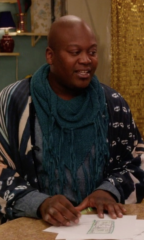 Tituss Burgess with Dsquared2 Knitted Cardigan in Unbreakable Kimmy Schmidt