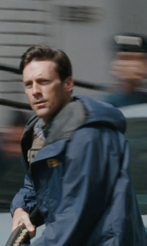 Jon Hamm with Charles River Apparel Nor'easter Rain Jacket in The Town