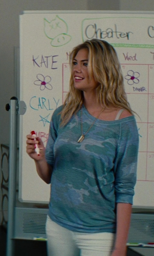 Kate Upton with Shop4Silver 14k Dog Tag Disc Charm in The Other Woman