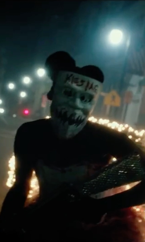 Unknown Actor with Singlestopshop Masquerade Paper Mask in The Purge: Election Year