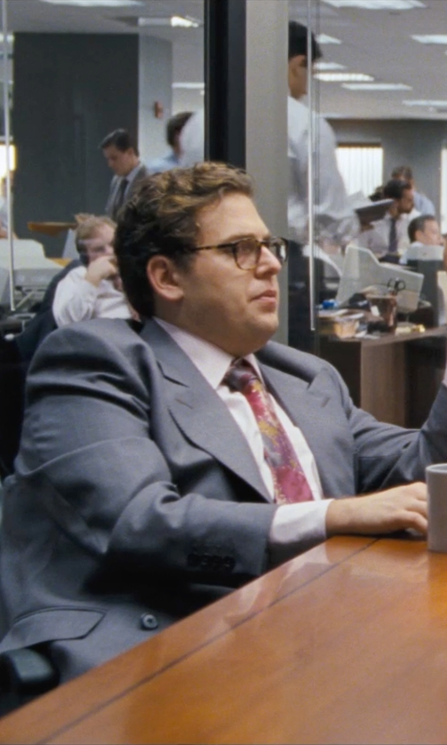 Jonah Hill with BOSS HUGO BOSS two piece suit in The Wolf of Wall Street