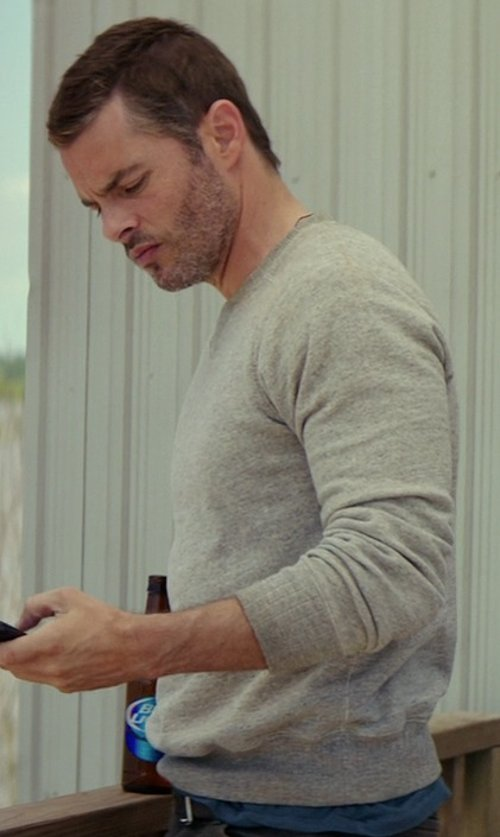 James Marsden with Denim & Supply Ralph Lauren French Terry Pullover Sweater in The Best of Me
