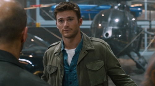 Scott Eastwood with AllSaints Natural Addison Jacket in The Fate of the Furious